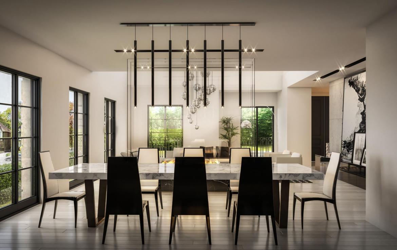Rendering of 469 Spadina Homes interior dining room.
