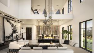 Rendering of 469 Spadina Homes interior living room.