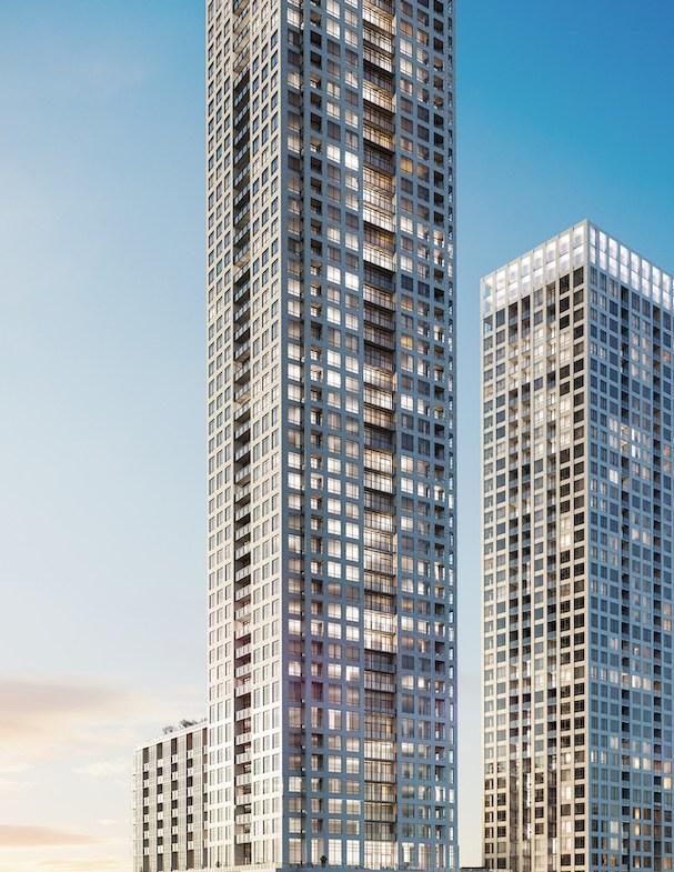 ORO Condos full building exterior rendering.