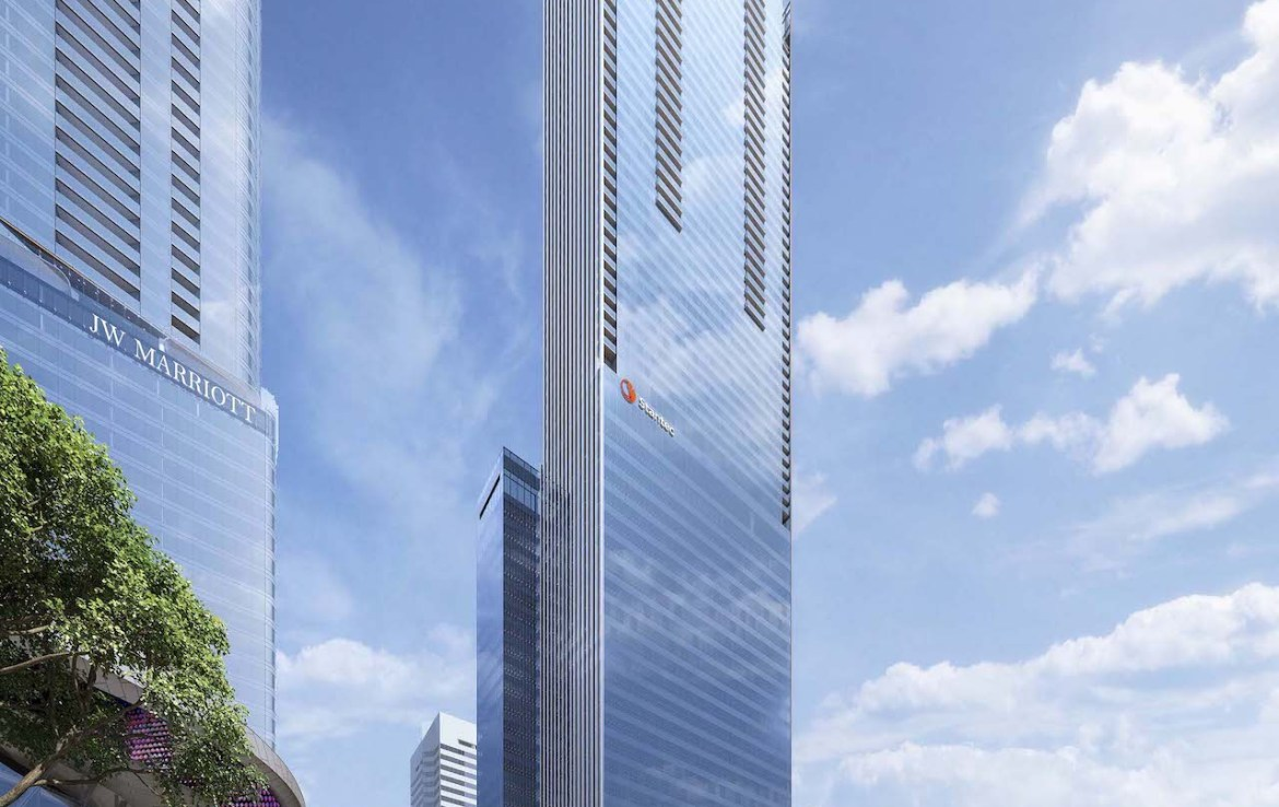 Rendering of SKY Residences Stantec building exterior in full.