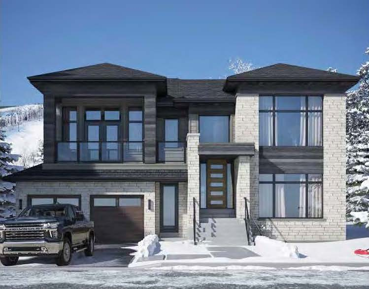 Rendering of a modern 2-storey home at Blumont.