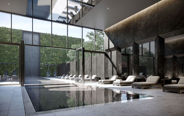 Rendering of Untitled Condos indoor swimming pool.