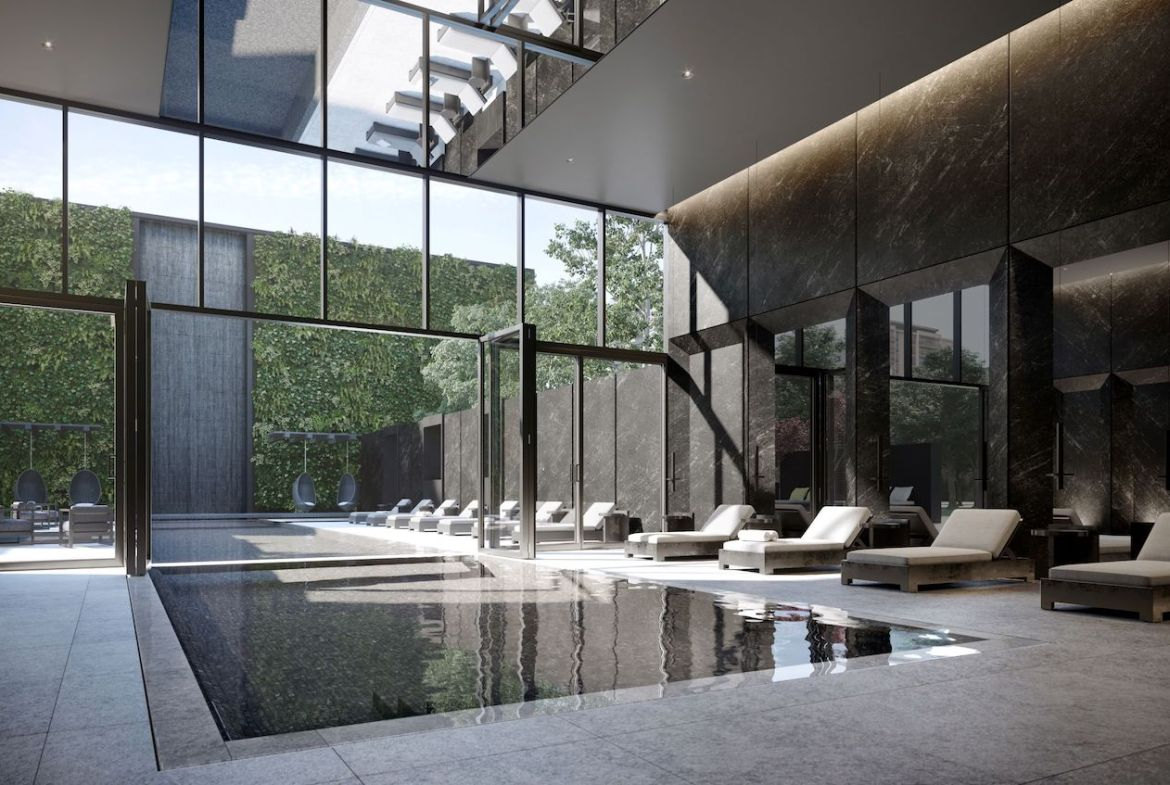 Rendering of Untitled Condos indoor swimming pool.