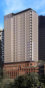 Exterior rendering of 88 Queen Condos 2/2 smaller buildings.