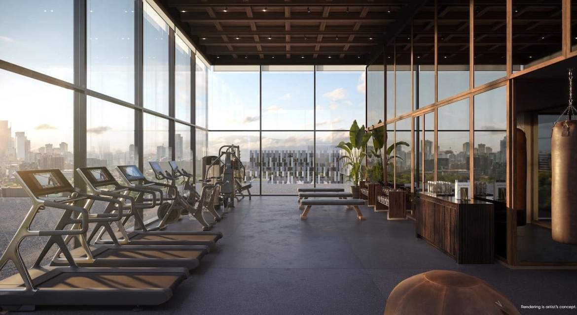 Rendering of Canary House Condos fitness room