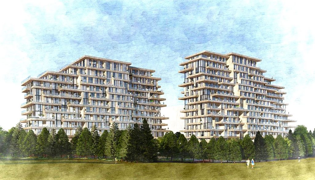 Rendering of Royal Orchard and Bayview condo towers.