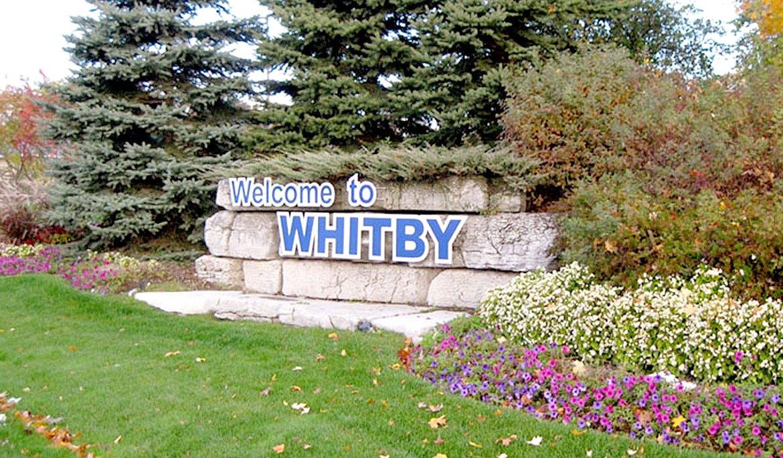 Whitby Ontario sign