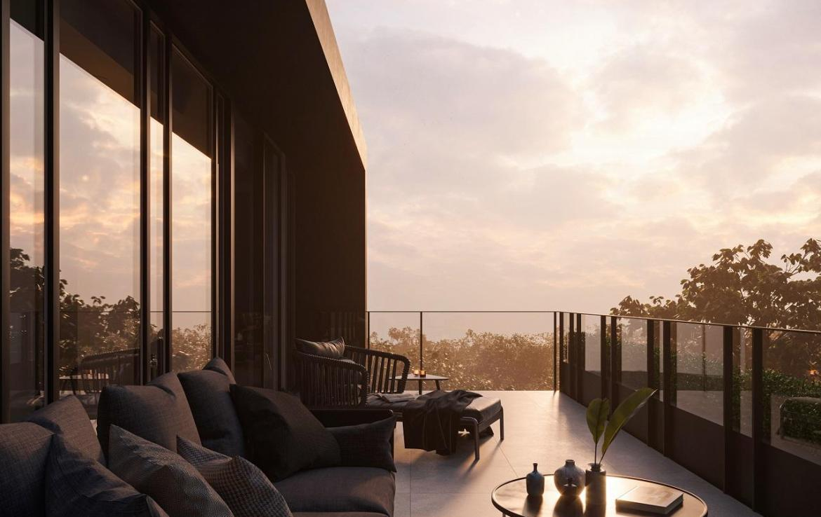 Rendering of 1414 Bayview Condos South facing terrace