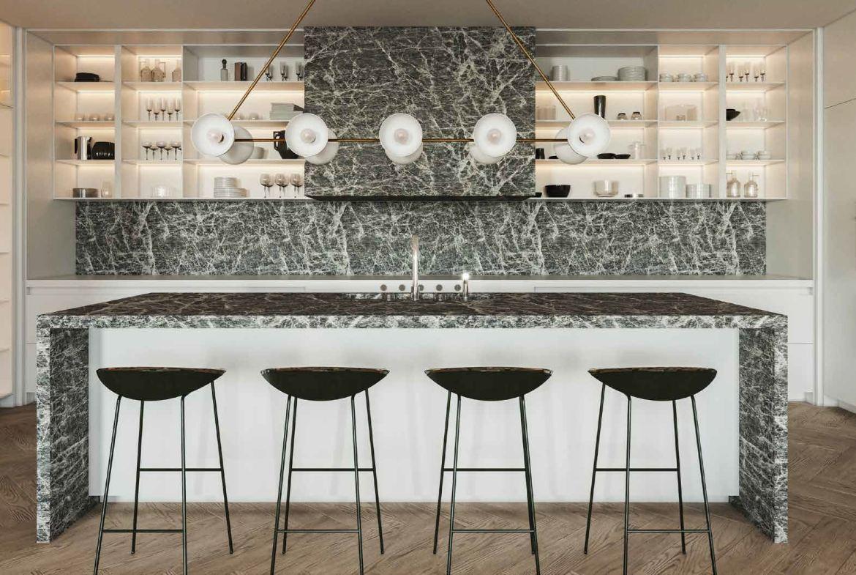 Rendering of No. 7 Rosedale Condos interior suite kitchen.