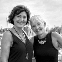 Portrait of Sue Taylor and Manon Messina, co-owners of Retreat Staging in Toronto.