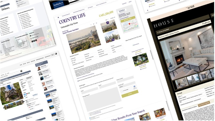 Landing pages with listings from Sotheby's International Realty