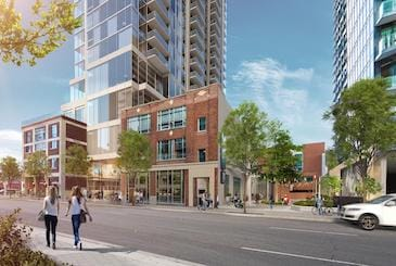 Rendering of 125 George Condos in Toronto.