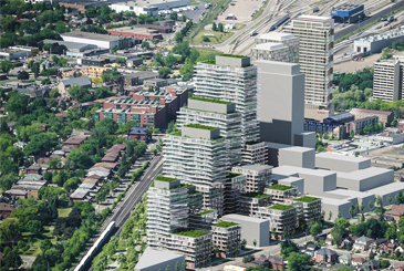 Rendering of Grand Park Village development.
