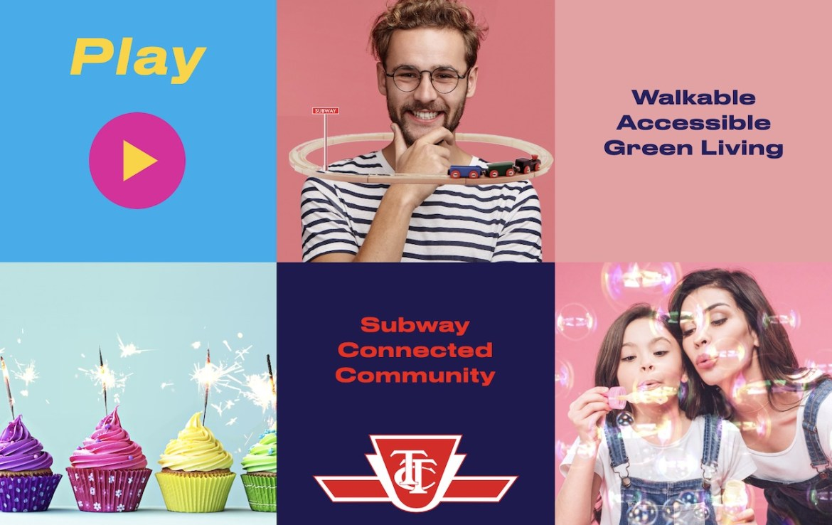 Festival Condos and Towns is close to TTC transit options.
