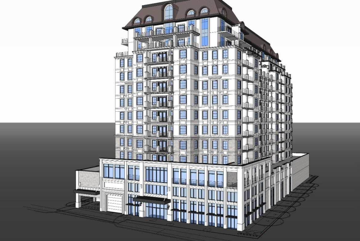 Rendering of 420 Guelph Line Condos exterior.