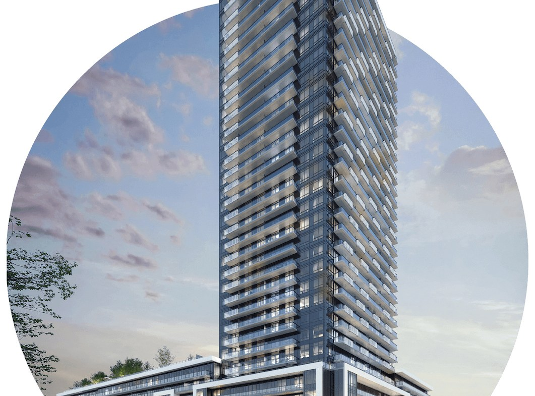 Rendering of Canopy Towers Condos full exterior.