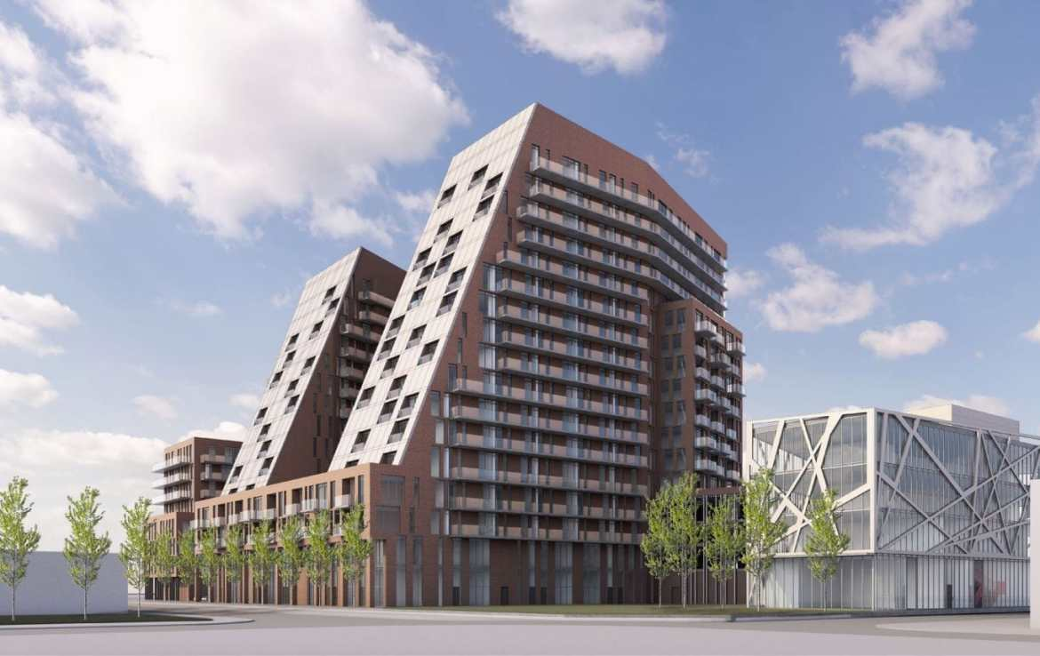 Exterior rendering of Carlyle Junction Condos in Toronto