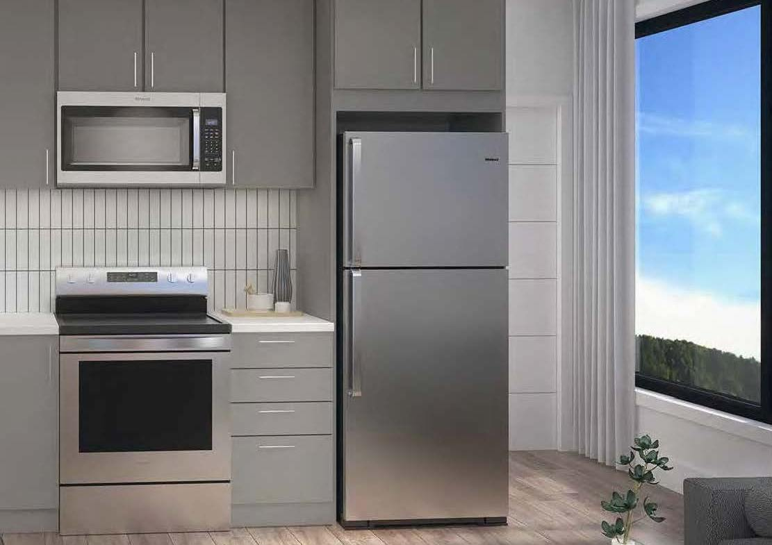 Rendering of Spur Line Common suite kitchen