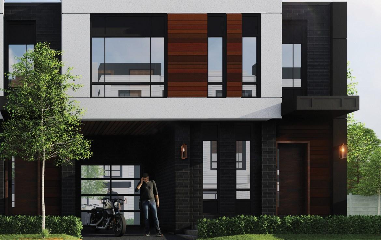 Rendering of Glendor Towns modern exterior.