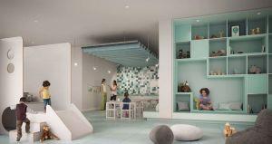 Rendering of M4 Condos kids play room