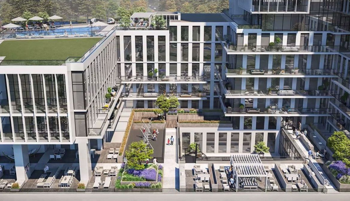 Rendering of M4 Condos outside amenities