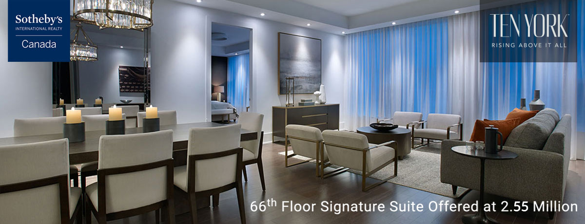 Ten York Condos - 66th floor signature suite offered at 2.55 million.