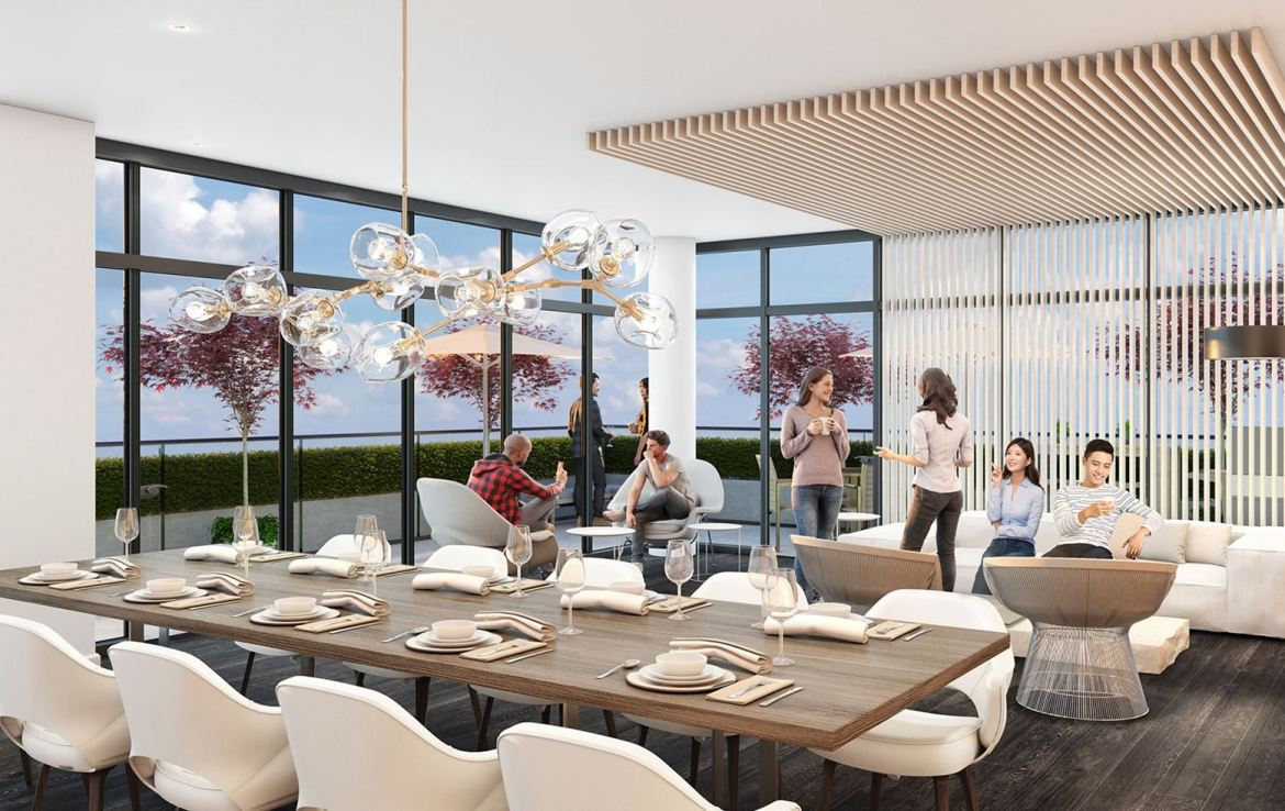 Rendering of 181 East Condos even lounge.