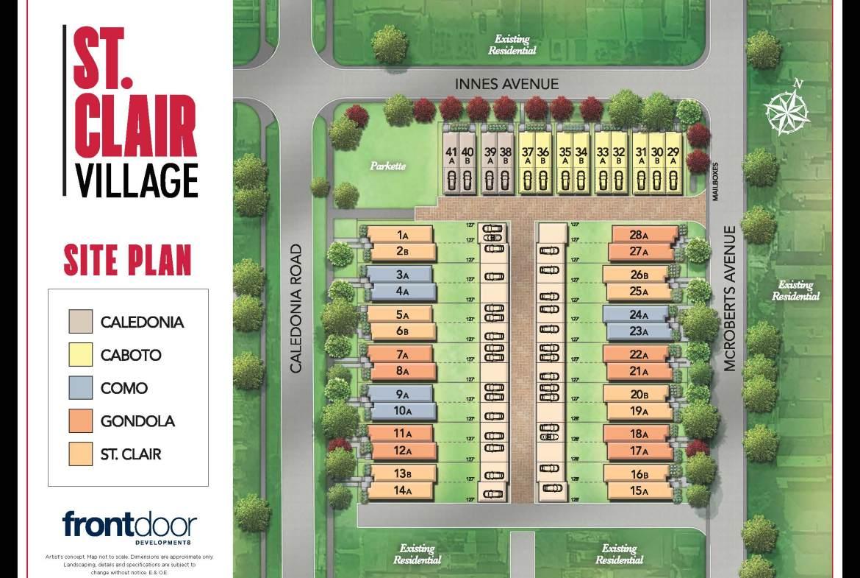 St. Clair Village Site Plan