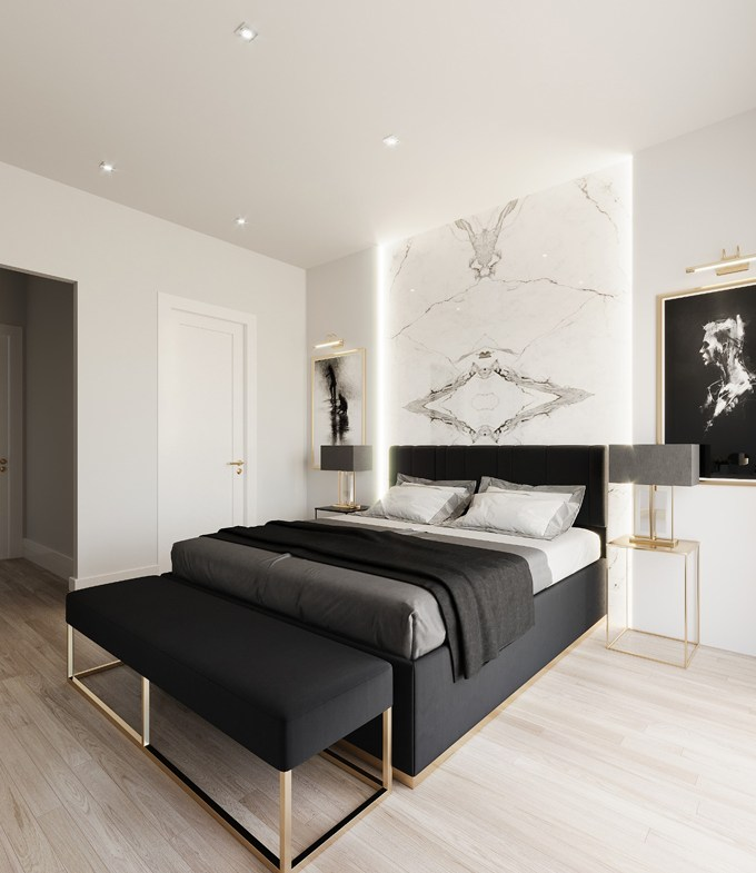 Rendering of Hillhurst Towns interior bedroom.