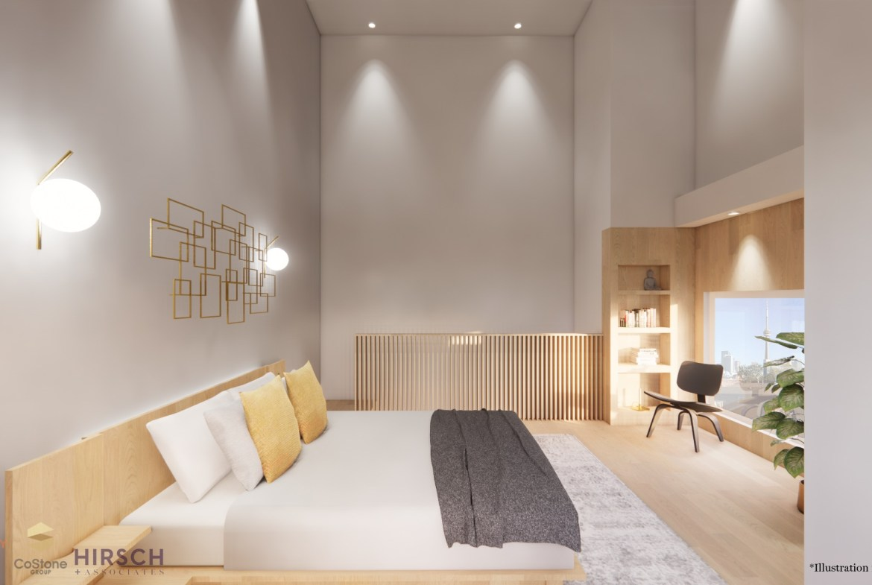 Rendering of Sanctuary Lofts interior master bedroom