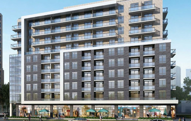 Rendering of 3445 Sheppard East Condo building exterior 1