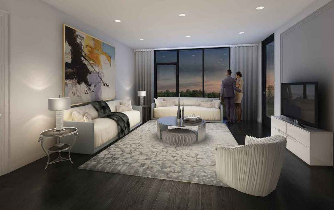 Rendering of 42 Mill St Condos suite living room