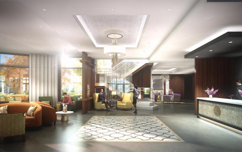 Rendering of Upper Vista Condos lobby