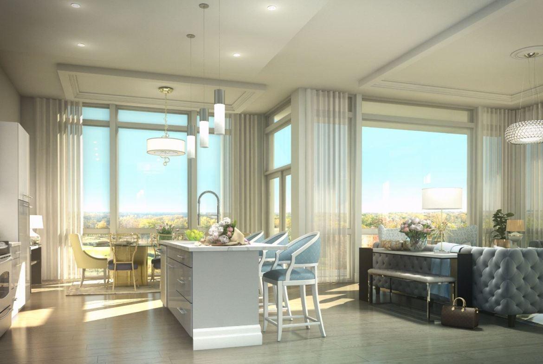 Rendering of Upper Vista Condos suite kitchen