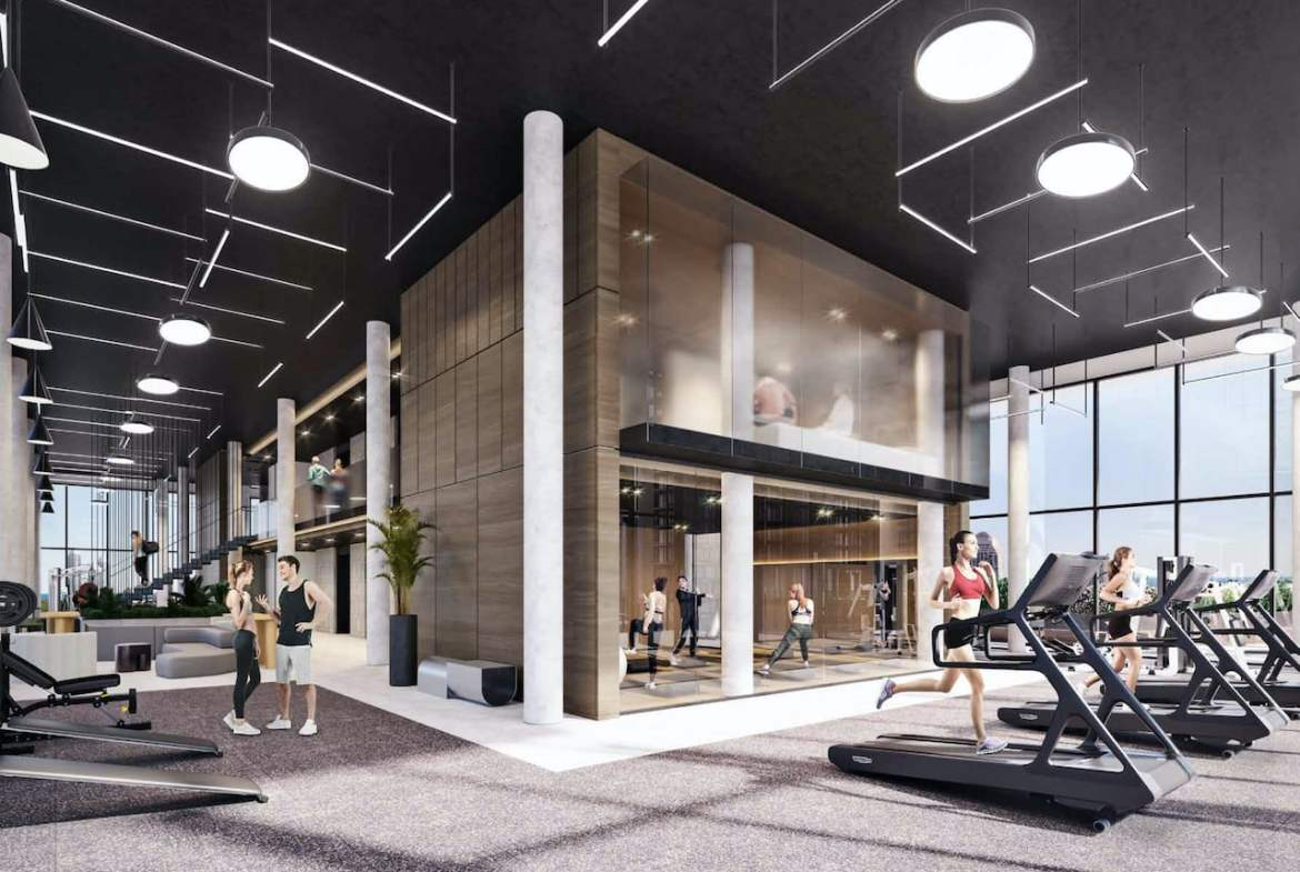 Rendering of Grand Central Mimico The Buckingham gym