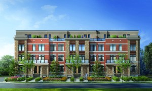 Exterior rendering of High Point Urban Towns in Richmond Hill.
