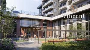 Rendering of Vincent Condos exterior courtyard