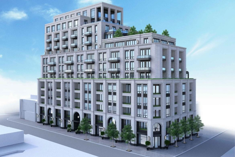 3180 Yonge Street Condos exterior rendering.