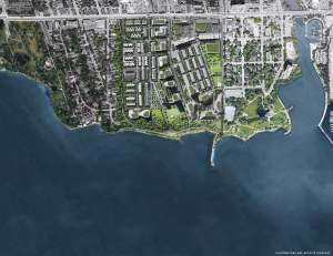 Rendering of Brightwater Towns aerial top-view