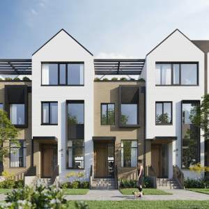 Rendering of Brightwater Towns trial collection exterior style 2