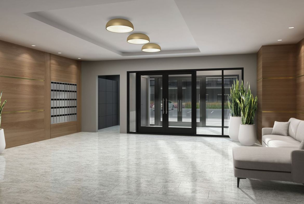 Rendering of Lackner Ridge Condos lobby.