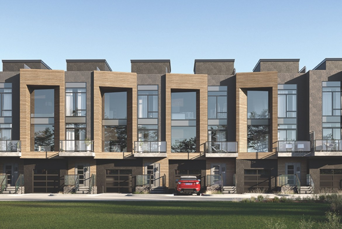 Exterior rendering of The Summit Towns.