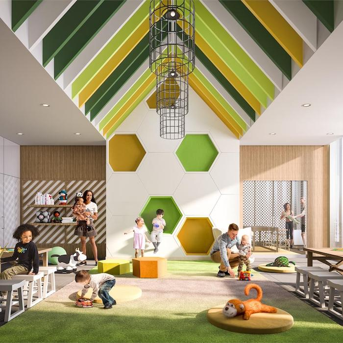 Rendering of Canary Commons Condo in Toronto's playroom for families.
