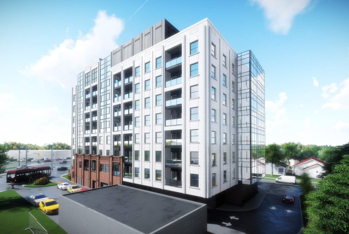 Rendering of 4151 Kingston Road Condos exterior