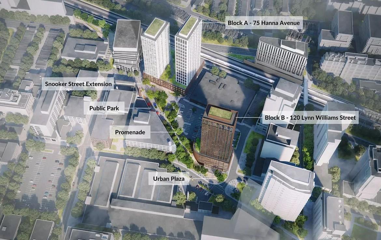 Aerial Rendering of King Liberty Village Condos revitalization