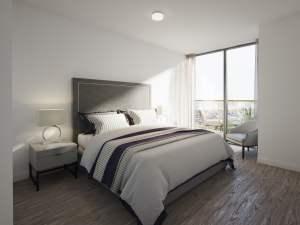 Rendering of Nuvo 2 suite bedroom