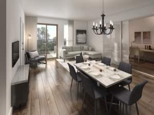 Rendering of Nuvo 2 suite dining