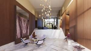 Rendering of Nuvo 2 Condos lobby lounge