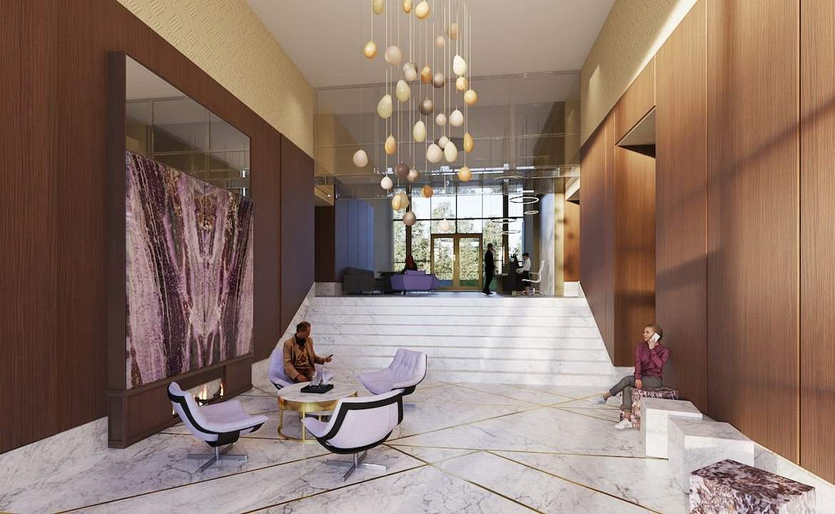 Rendering of Nuvo 2 Condos lobby lounge