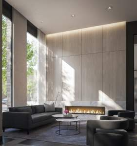 Rendering of 1 Jarvis Condos lobby lounge